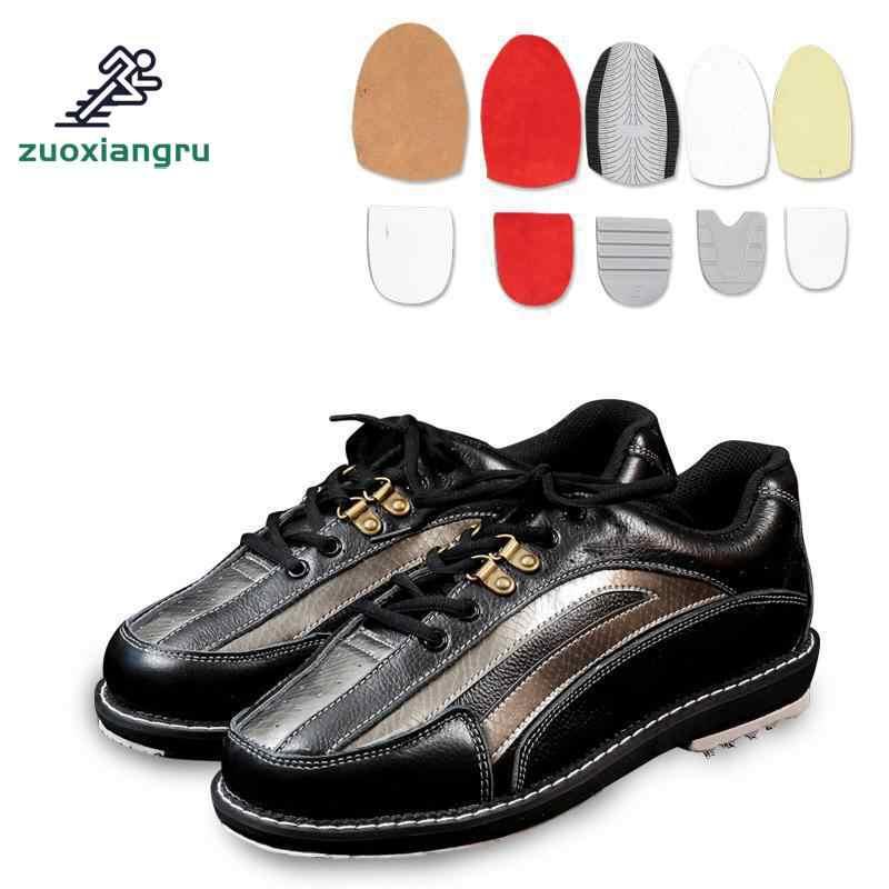 Los hombres cambiable suela zapatos de bolos con suela antideslizante zapatillas de deporte transpirables de los hombres la mano derecha y la mano izquierda de los dos puede usar