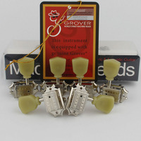 Grover Deluxe Vintage 135 Keystone Vintage Style Guitar Machine Head Tuning Peg Tuners for lespaul Guitar NICKEL Made in China