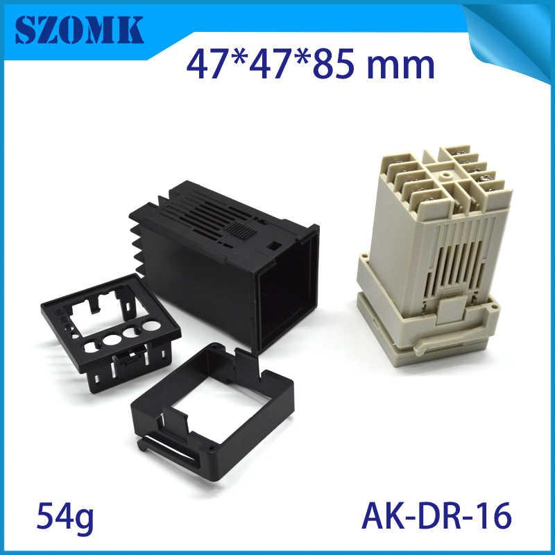 1 pièce, 47*47*85mm din rail en plastique boîtier électronique boîte de jonction en plastique boîtier d'instrument boîte de contrôle