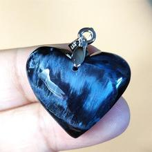 Newly Natural Blue Pietersite Women Men Chatoyant Pendant 25x22x9mm For Best Gift Crystal Healing Gemstone From Namibia AAAAA