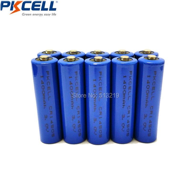 10 шт. AA Батареи cr14505 14505 CRAA 3 В 1400 мАч литий цилиндрические <font><b>li</b></font> mono2 Батарея