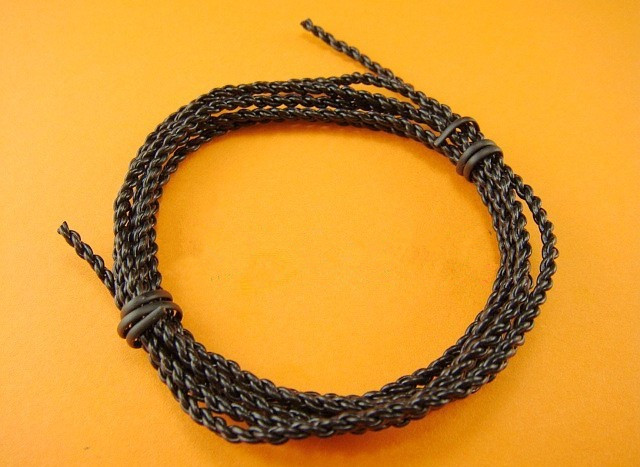 Black OFC TPE 4 shares Fever hifi diy headphone cable 76 core soft wire 5meters