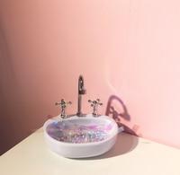 Mini Wash Basin Design Desktop Storage Jewelry Storage Box Maiden Room Decoration Ornaments Plastic Candy Key Storage Can 07
