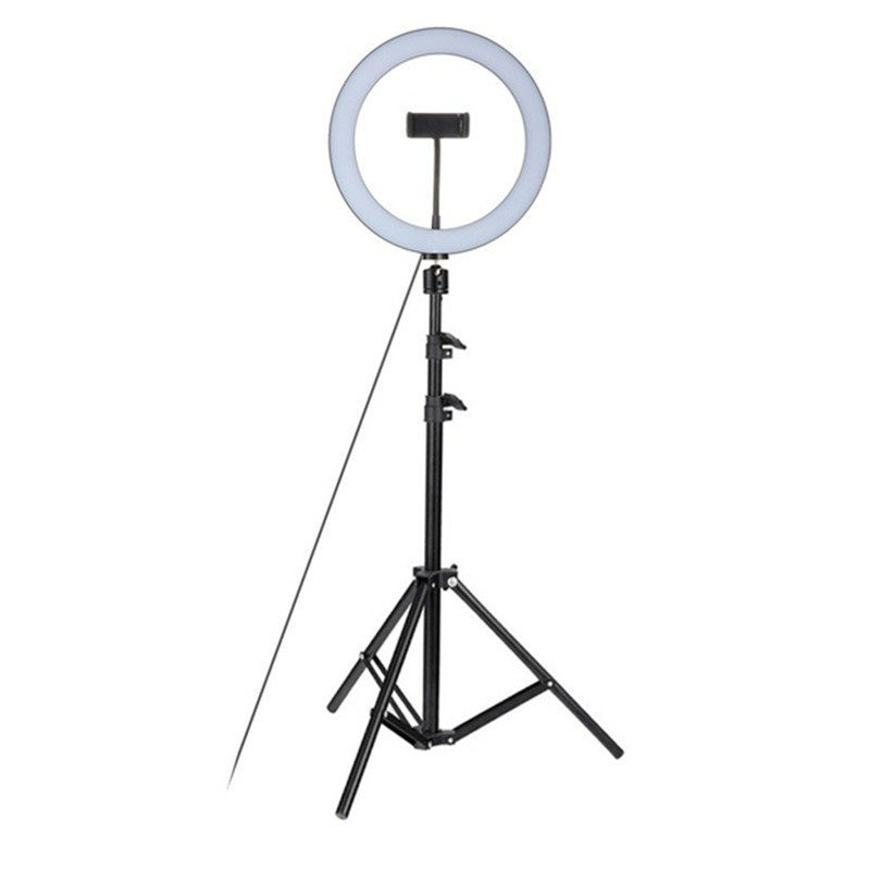 $32.29 Tycipy 26CM LED Ring Light 24W Photo Studio Light Photography Dimmable Video For iPhone With Tripod Selfie Stick & Phone Holder