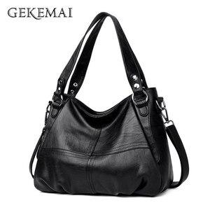 Image 1 - 2019 Sheepskin Leather Ladies Handbags Female Messenger Bags Designer Crossbody Bags for Women Tote Shoulder Bag for Girls Bolsa