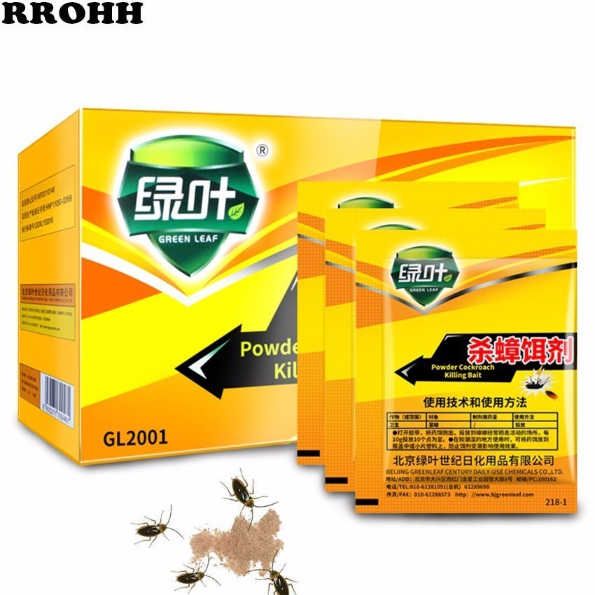 5PCS/Lot Powder Effective Cockroach Killer Special Insecticide Bedbug Bait Drugs Medicine Insect Reject Pest Control For Hotel