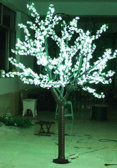 2M 6.6ft LED Cherry Blossom Tree Outdoor Indoor Christmas Wedding Garden Holiday Light Deco 1040 LEDs waterproof 7 Colors option цена