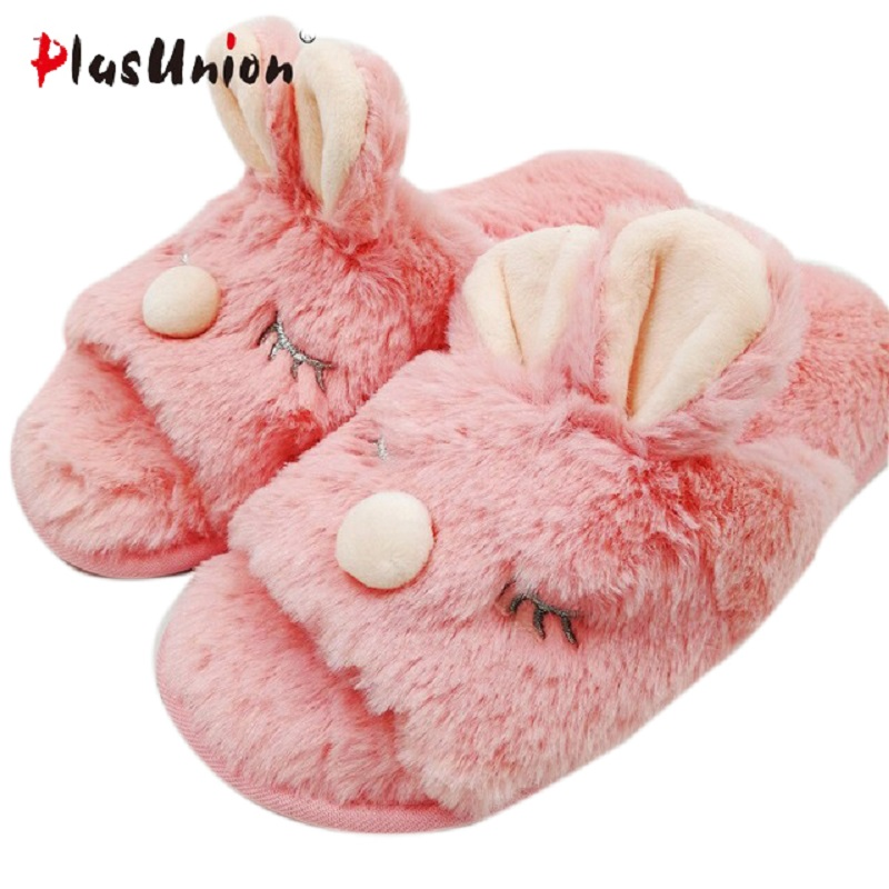 cartoon-animal-indoor-women-furry-cute-rabbit-slippers-winter-fluffy-cosplay-house-home-slipper-with-fur