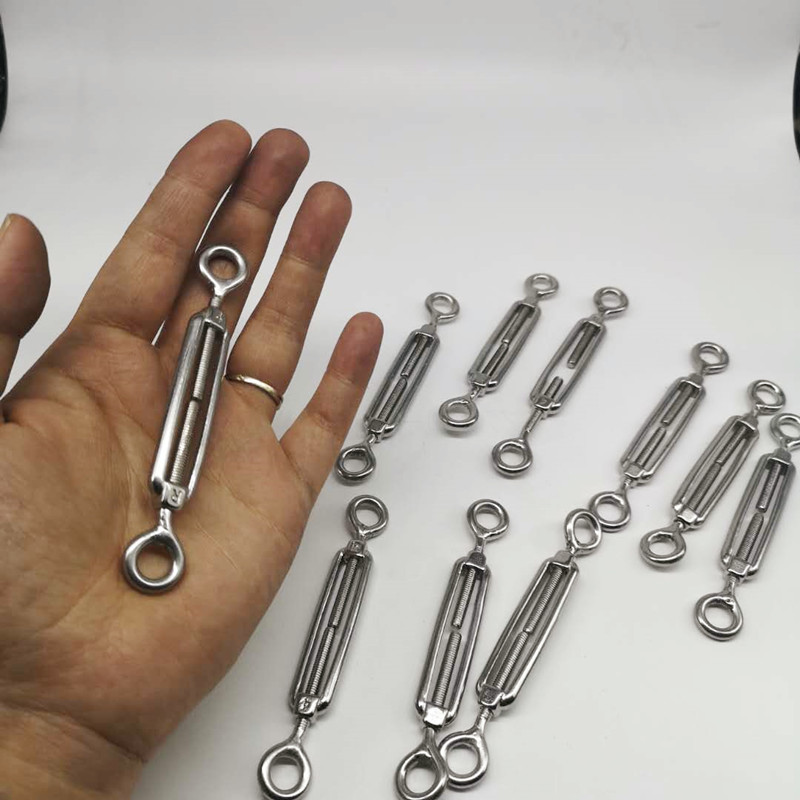 M4 10pcs Eye And Eye Turnbuckle 304 Stainless Steel
