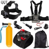 QQT for GoPro Bracket Tripod Mount Mount Adapter for Go pro Hero 76 5 4 3+ SJCAM SJ4000 Session Xiaomi yi 4 k Sport Action Camer