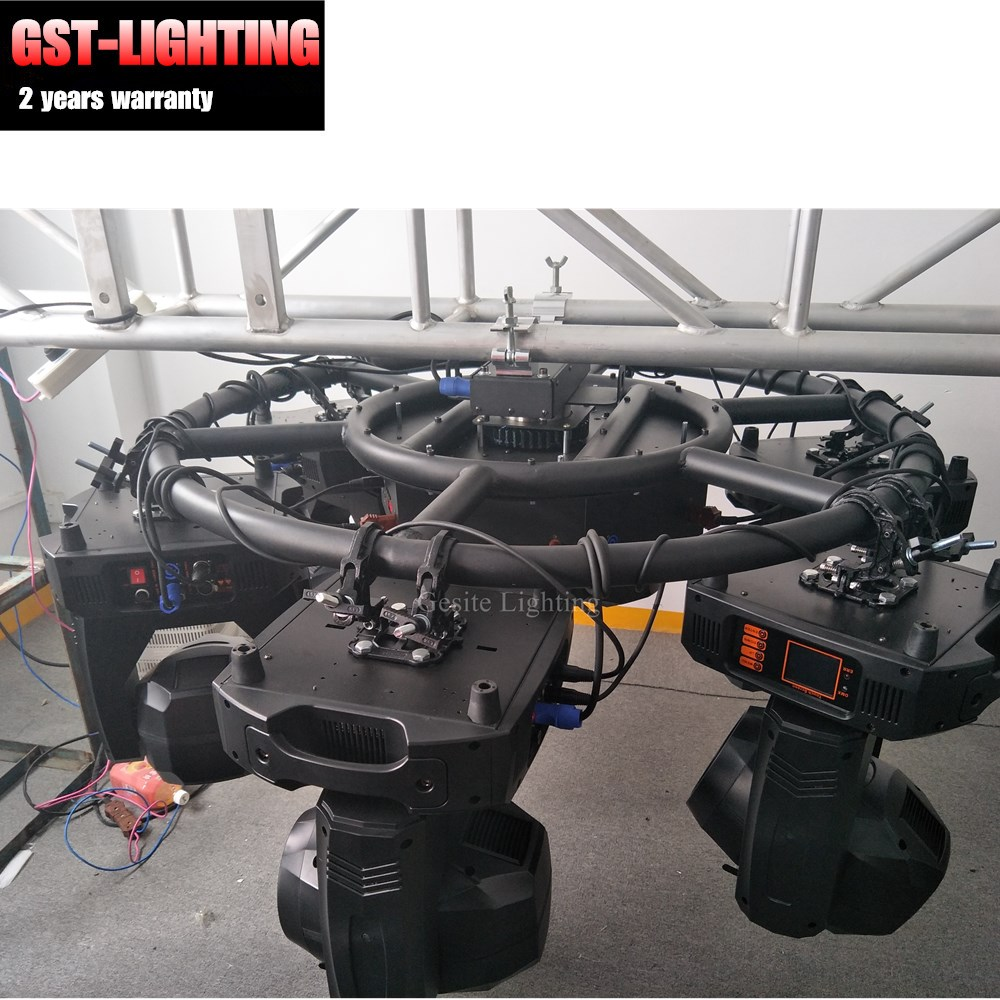 Factory DMX Control Stage Aluminum Round Circular Rotating Lighting Truss