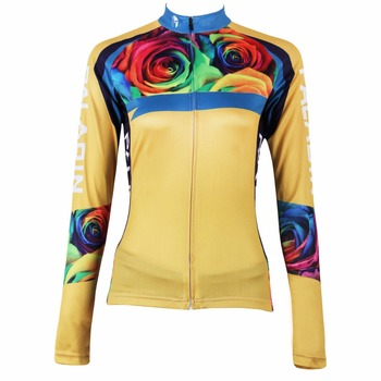 ILPALADINO Women's Bicycle Cycling Jerseys Long Sleeve Blue Circle Bike Apparels Riding Clothing Ropa Ciclismo Pro Team