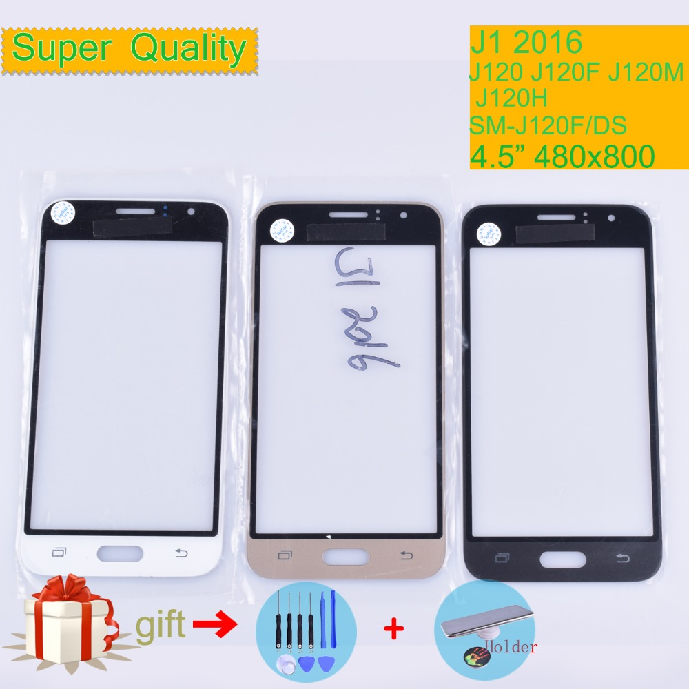 TouchScreen For <font><b>Samsung</b></font> Galaxy J1 2016 J120 <font><b>J120F</b></font> J120M J120H <font><b>SM</b></font>-<font><b>J120F</b></font>/<font><b>DS</b></font> <font><b>Touch</b></font> <font><b>Screen</b></font> Front Glass Panel Outer Lens Replacement image