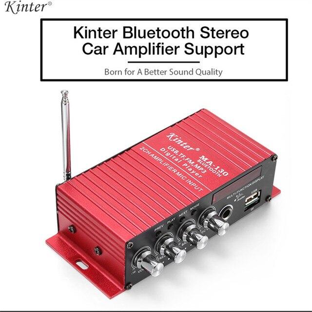 Best Offers Kinter DC12V 2 Channels Mini Amplifier Bluetooth Stereo Car Audio Digital Power Amplifier Support FM MP3 MIC Input