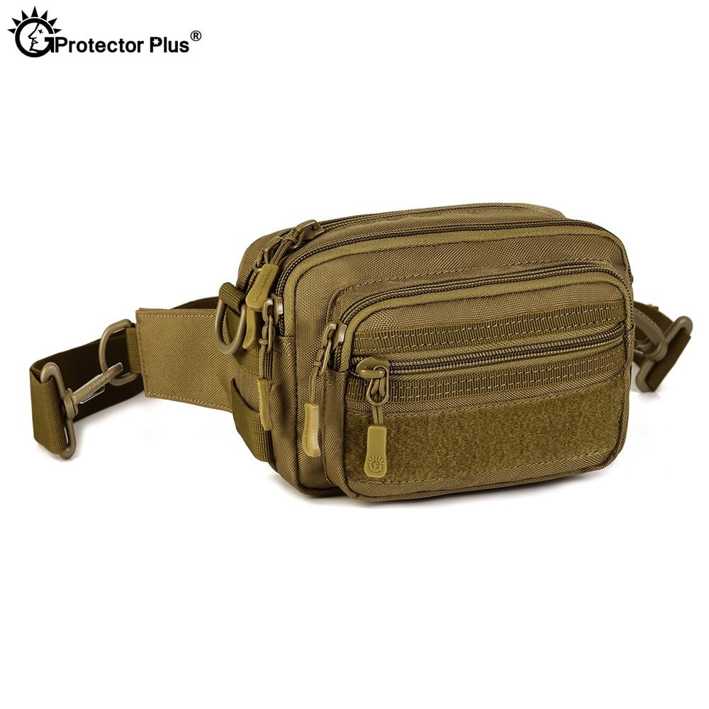 Protector Plus  Y112 Multipurpose Tactical Waist Bag Men Molle Messenger Bag Waterproof Military Camo Hiking Travel Handbag
