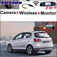 Liislee Per VW Volkswagen Golf Plus CrossGolf Cross Golf Speciale Camera Wireless Receiver + + Specchio Monitor Facile Sistema di Parcheggio