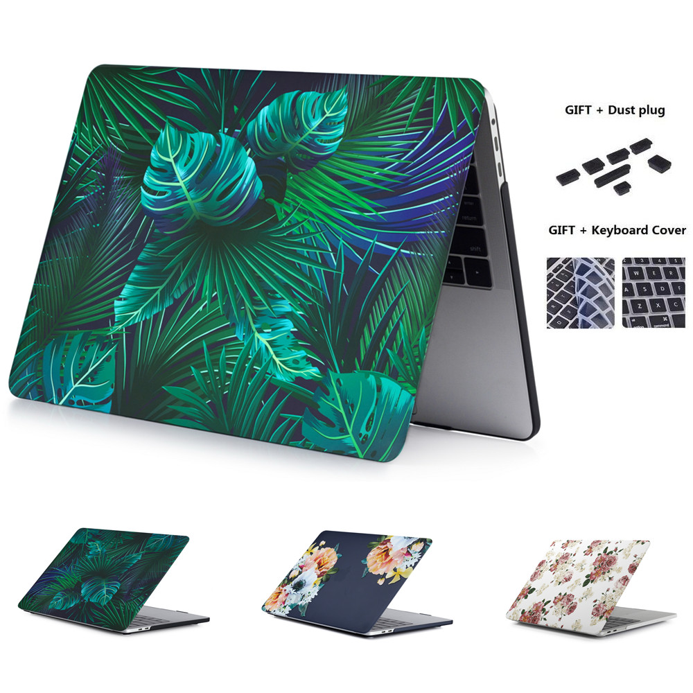Flower Laptop Case For Apple MacBook Air 2018 Pro Retina 11 12 13 15 for New Pro 13.3 inch Touch Bar with Keyboard Cover|Laptop Bags & Cases| |  - title=