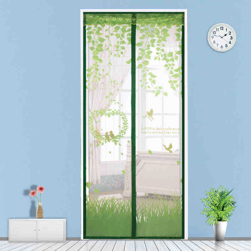 The new high-grade magnetic soft screen door curtain magnetic stripe wear Free summer mosquito curtain encrypted mute Salmonella