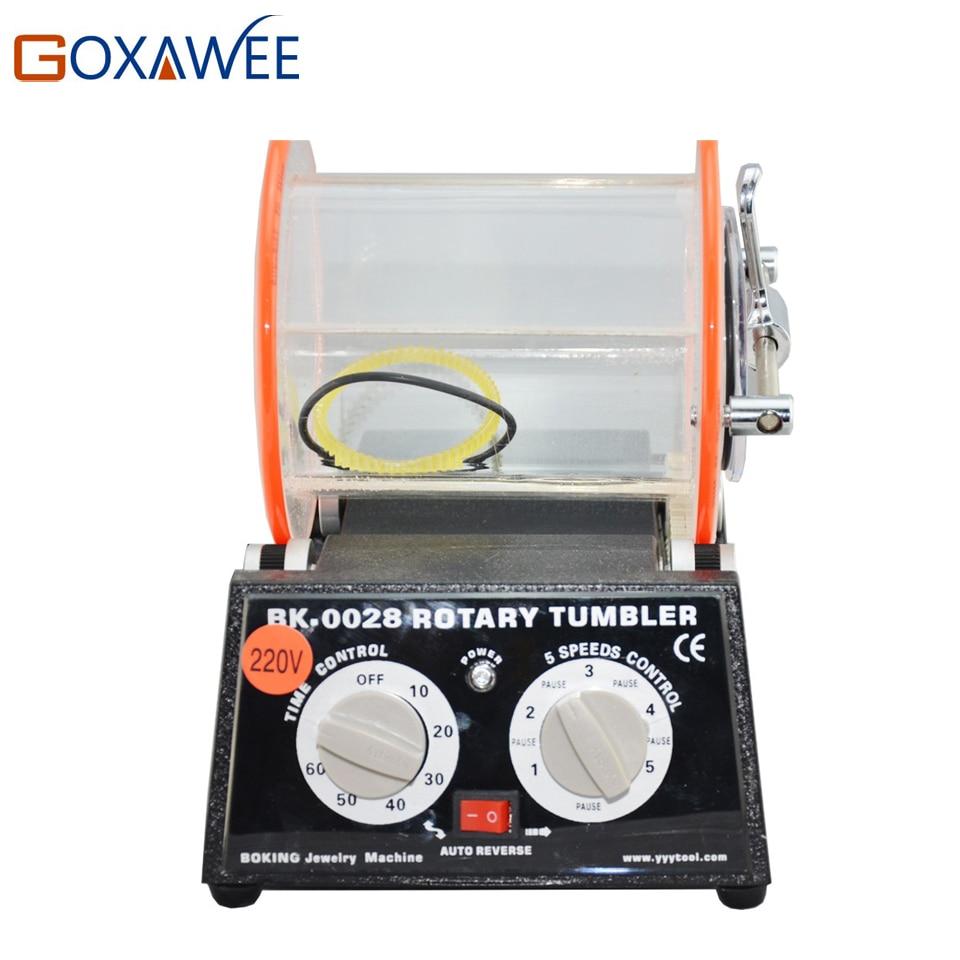 220V Mini Rotary Tumbler Polisher Jewelry Bench Polisher Finisher Machine with 3000g Capacity for Jewelry Tools Mini Tumbler