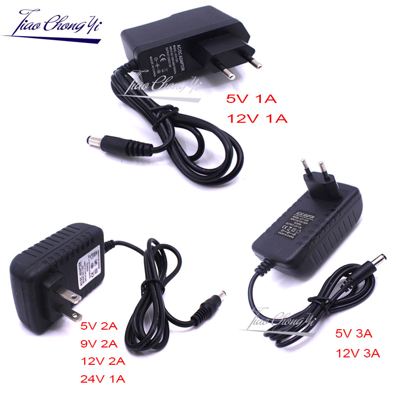 Power Supply Charger <font><b>Adapter</b></font> DC 5V 9V 12V <font><b>24V</b></font> <font><b>1A</b></font> 2A 3A Adaptor DC 5 9 12 <font><b>24V</b></font> Volt DC Swiching EU 220V To 12V Led Strip lamp image
