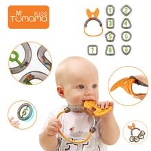 Tumama Baby Rattles 4pcs/10pcs Mobile Musical Toys For Kids Rattle Newborns ABS Cartoon Hanging Toy Babies Handbell