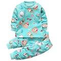 2 t 3 t 4 t Pijamas para meninos crianças pijama define para o miúdo meninas pjs noite terno do bebê menino pijamas crianças inverno desgaste da noite pijama