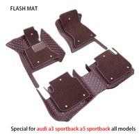 Special car floor mats for audi a3 sportback a5 sportback tt mk1 A1 A2 A3 A4 A5 A6 A7 A8 Q3 Q5 Q7 S4 S5 car accessories car mats
