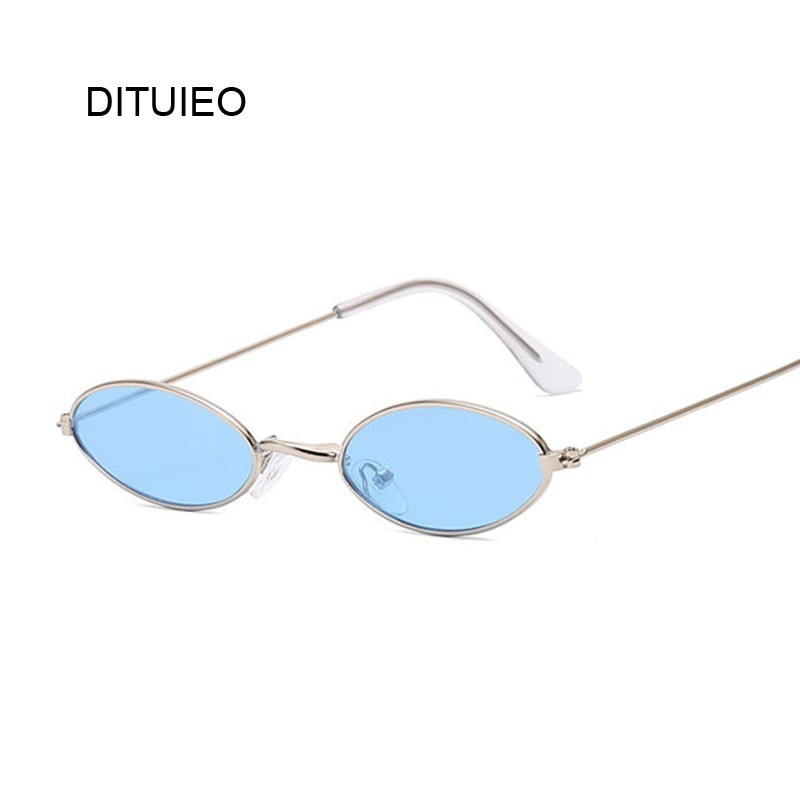 Luxury Small Oval Mirror Sunglasses Women Brand Designer Lady Round Sun Glasses Female Street Beat Oculos De Sol Gafas