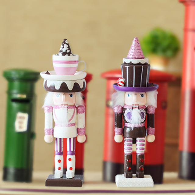Home Decoration Miniature Wooden Christmas Gift Ice Cream Sweet The Nutcracker Model Happiness Furnishing Articles Wood