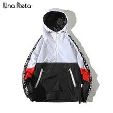 Куртка Una Reta мужская с капюшоном, лоскутный цветной пуловер, модный спортивный костюм, пальто, уличная одежда в стиле хип хоп