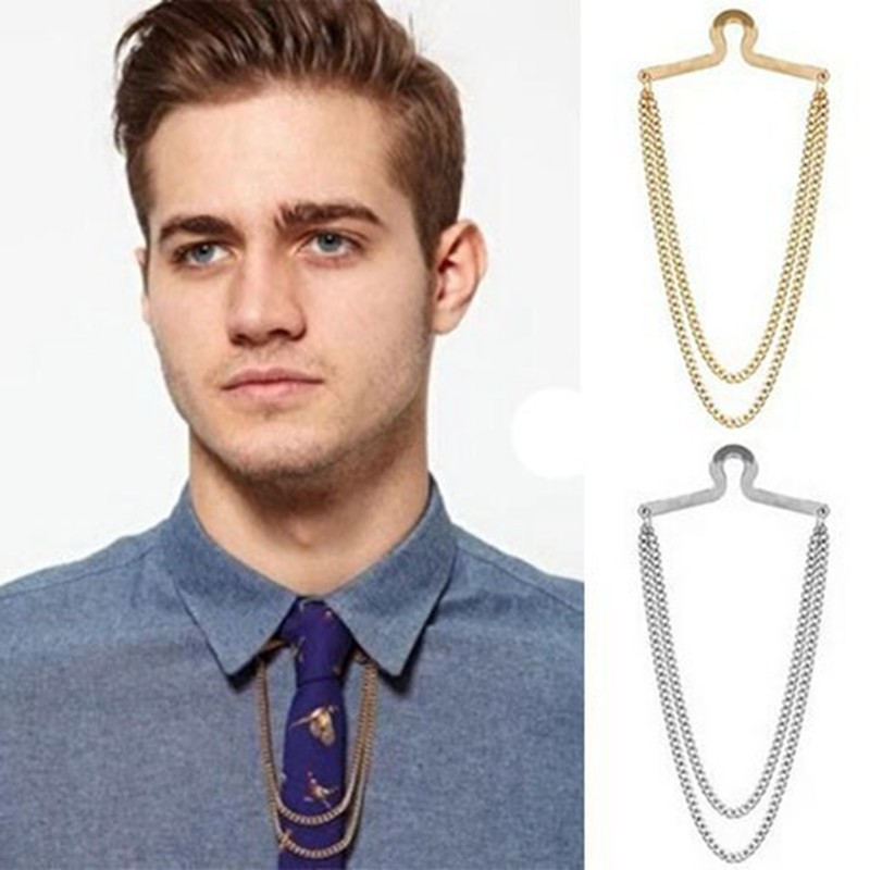 Gold Chain for Men Collar Pin