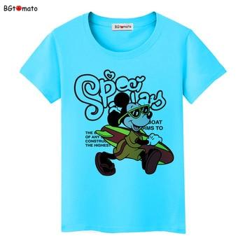 BGtomato T shirt 3D cartoon funny T-shirt women Lovely design popular Mickey tshirt Cheap sale brand blusa mickey 1