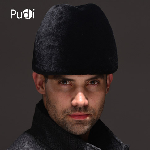 HM040 Real genuine wool fur hat winter Russian men's warm caps whole piece sheep fur hats hm039 real genuine mink hat winter russian men s warm caps whole piece mink fur hats