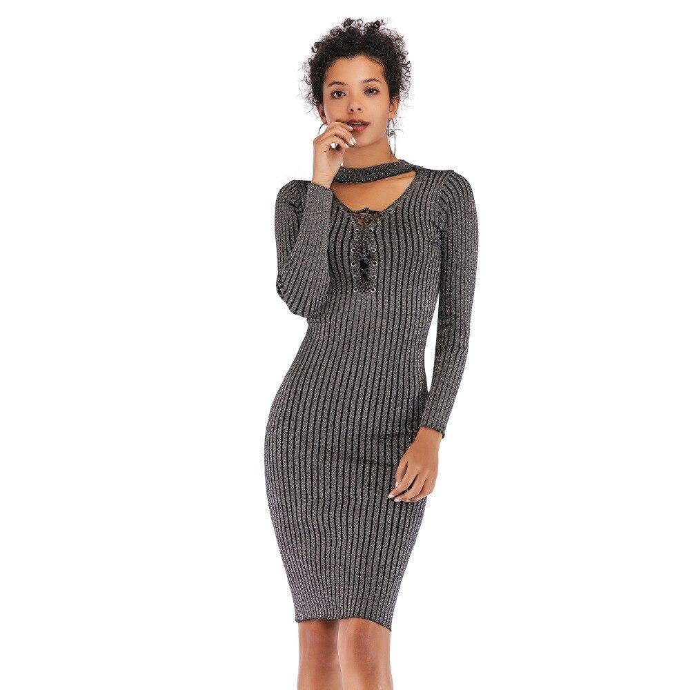 07cf02669f0 платье женское осень зима сарафан женский платья больших размеров платье с  запахом трикотажное платье с длинным
