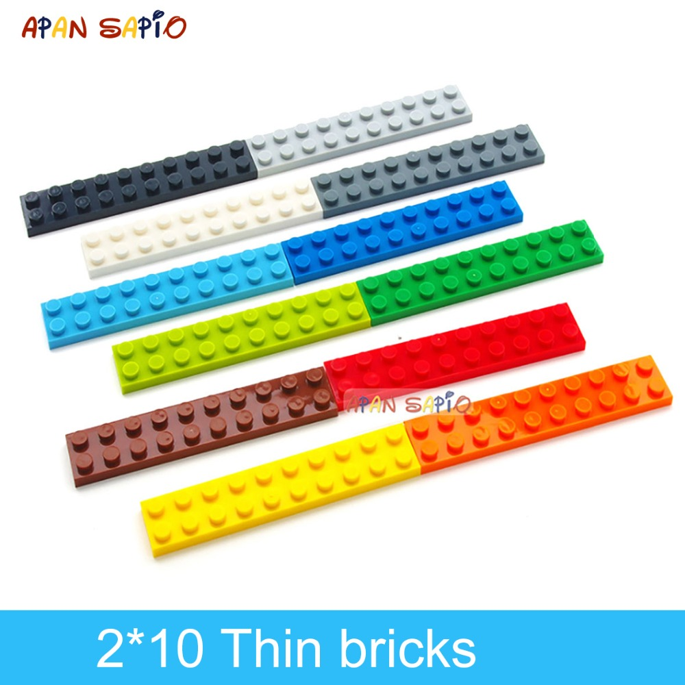 DIY Building Blocks Thin Figures Bricks 2x10 Dots 24PCS Lot Educational Creative Compatible With Brands Toys For Children