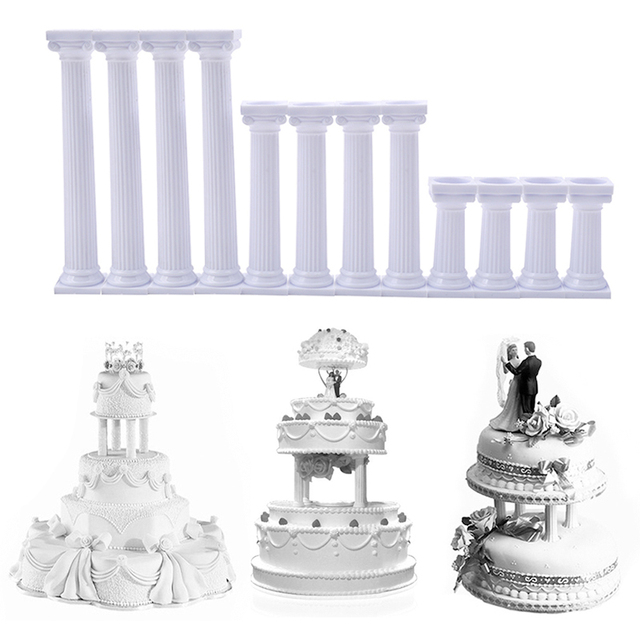4pcsset Cake Decoration Tools Grecian Pillars Wedding Cake Stand