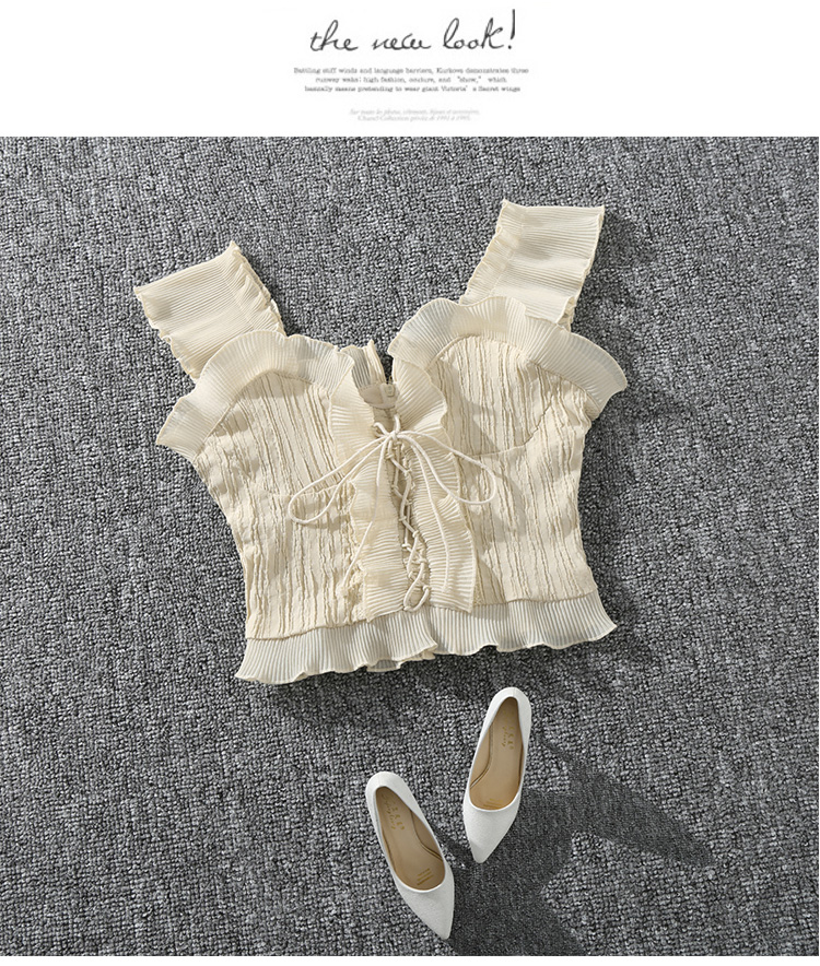 Shintimes 18 New Summer Autumn Bustier White Black Tank Top Female Sexy Bandage Sleeveless Crop Top Zipper Woman Clothes 2