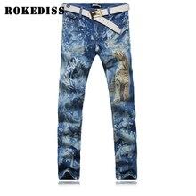 Мужской Ретро брюки джинсовые комбинезоны Мужчин Slim брюки Небольшой прямой брюки ковбой pantalones вакеро hombre мужские джинсы G212