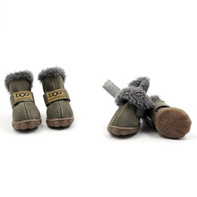 4pcs Set Pet Dog Shoes Boots Waterproof Anti-slip Fashion Gift Warm For Winter Hot Sale