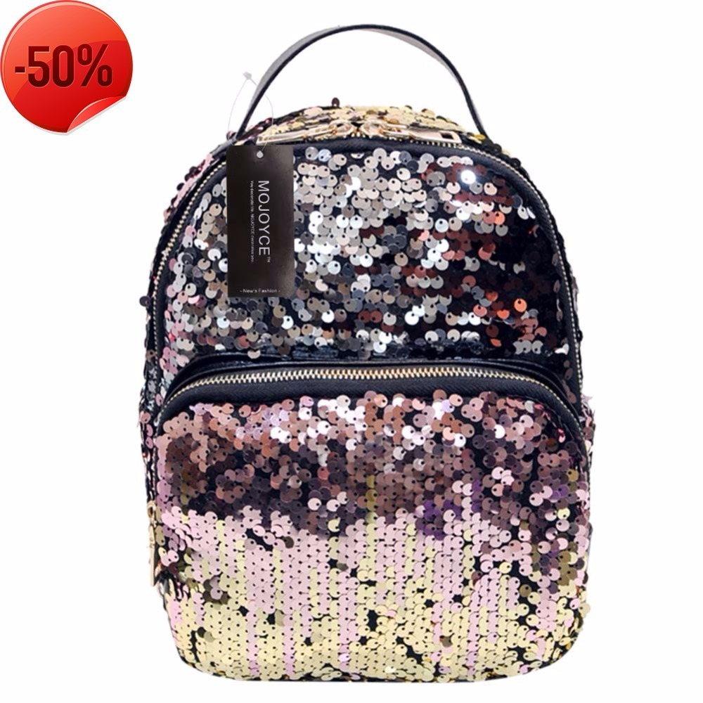 HTNBO New Arrival Women All-match Bag PU Leather Sequins Backpack Girls Small Travel Princess Bling Backpacks A6 2017 new women girl children all match bag pu leather sequins backpack girls small travel princess bling backpacks