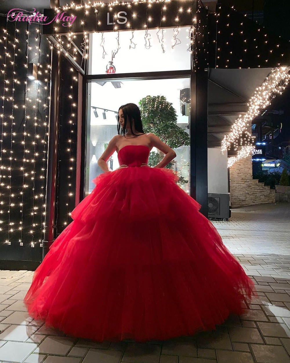 27641535710c8 Vestidos debutantes 2019 Red Tiered Tulle Ball Gown Quinceanera Dresses  Puffy Sweet Sixteen Party Gowns Vestido