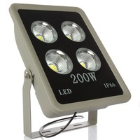 2pcs Led Reflector 200W COB Led Floodlight High Power Flood Lights Waterproof IP65 for Garden Park Road Free shipping