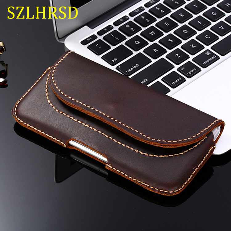 SZLHRSD For Apple iPhone XS Max XR XS Case Genuine Leather Holster Belt Clip Pouch Cover Waist Bag Phone cover for iPhone XR|Flip Cases| |  - title=