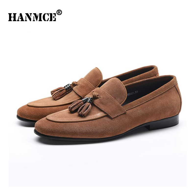 Zapatos de oficina para hombre HANMCE zapatos planos de cuero genuino para hombre mocasines zapatos de cuero de demanda zapatos de boda para hombre pisos-in Zapatos formales from zapatos    1