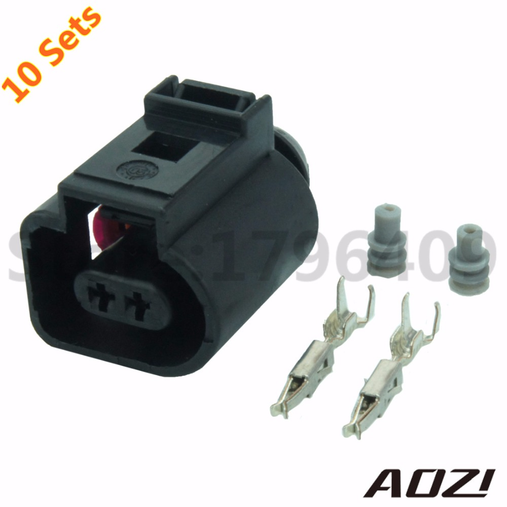 10sets Kit Bleed Valve Connector/Natural Gas Connector 13602619/1J0 973 702/Waterproof Auto 2Pin Connectors connector 6469294 1 connector