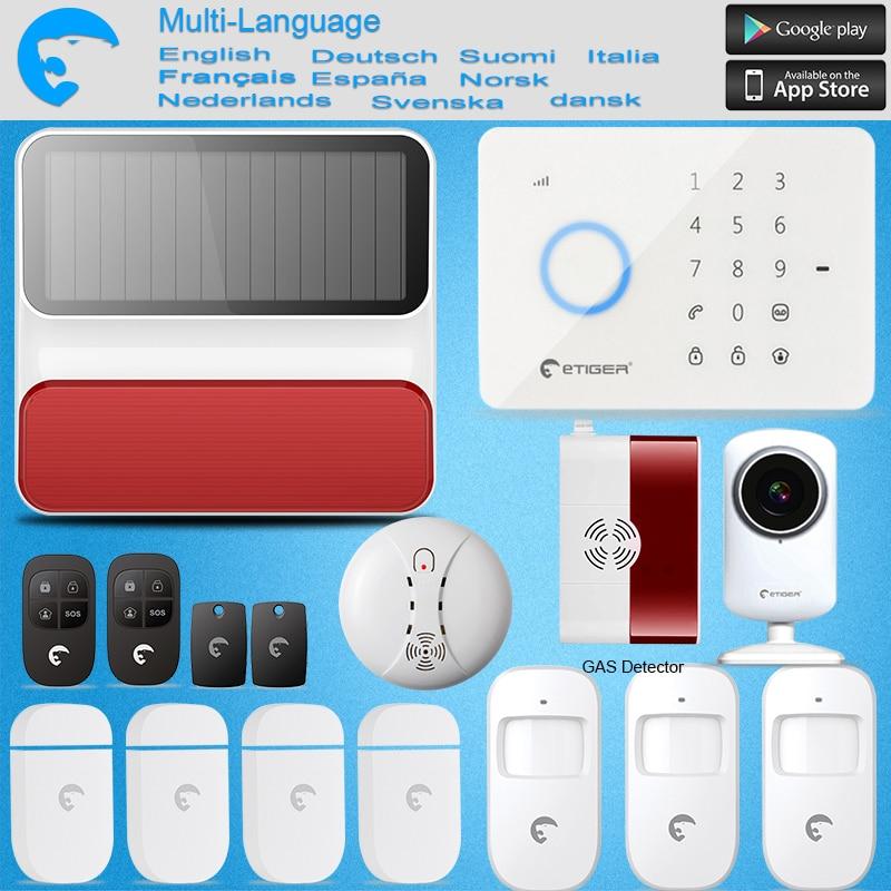 Etiger S3B GSM/SMS Burglar Alarm System For Home/Office Wireless Keypad & Strobe Siren as same as Chuango G5  ALARM SYSTEM s3b network camera etiger intruder burglar alarm gsm sms alarm s4 gsm sms alarm system