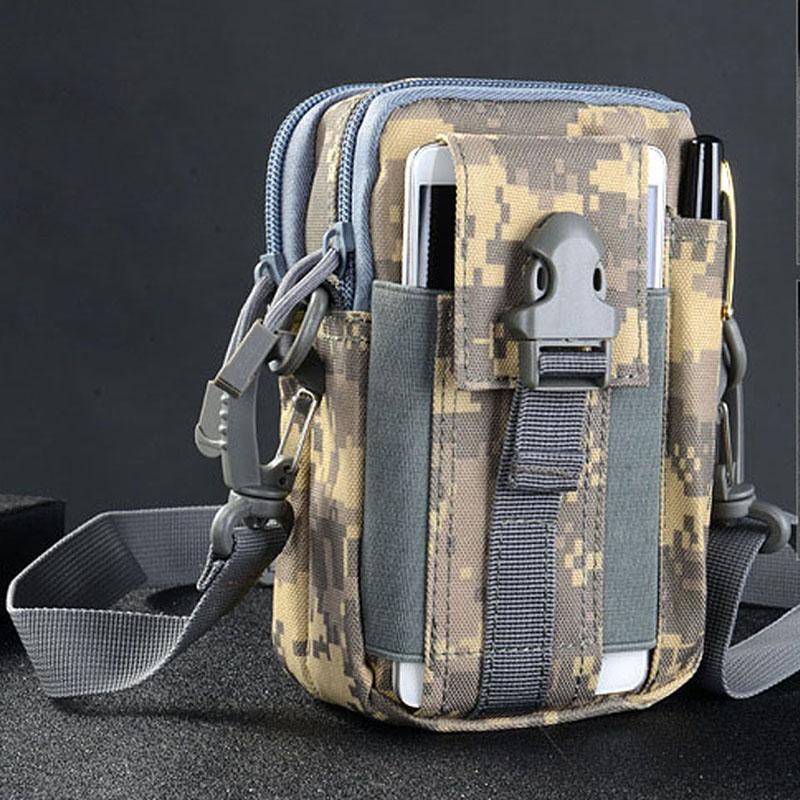 Universal Outdoor Sport Tactical Bag Molle Waist Bags Waterproof Phone Cases 1000D Nylon Waist Bag Tactical Pouch