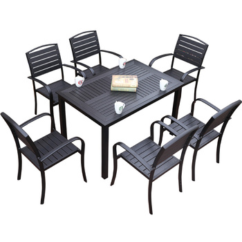 屋外の中庭のテーブルと椅子の組み合わせレジャーカフェ屋外バルコニーガーデン腐食プラスチックのテーブルと椅子