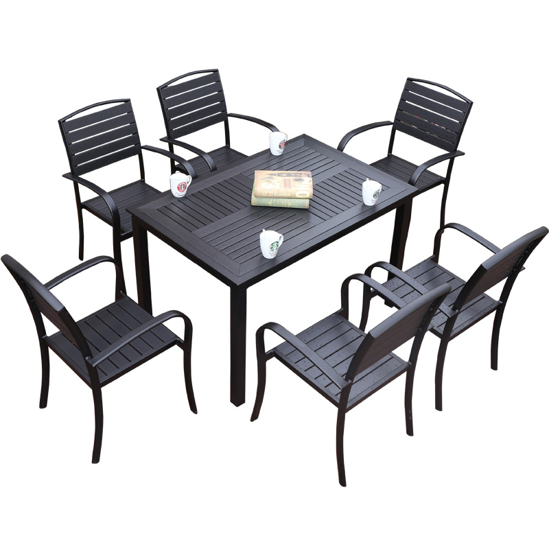 Outdoor Courtyard Table And Chairs Combination Leisure Cafe Outdoor Balcony Garden Corrosion Plastic  Tables And Chairs