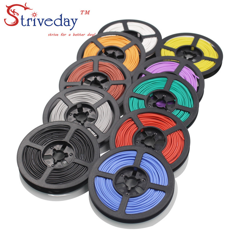 20 meters (65.6ft) 20AWG high temperature resistance Flexible silicone wire tinned copper wire RC power cord Electronic cable 100 meters 328ft 20awg high temperature resistance flexible silicone wire tinned copper wire rc power cord electronic cable